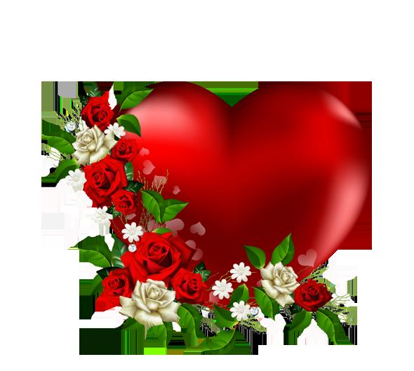 Saint valentin coeurs pleins rouge page 9 - Coeur avec des fleurs ...