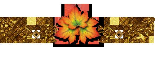 Séparateur doré avec feuilles