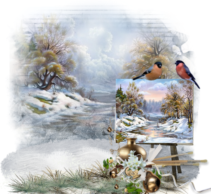 Hiver creations enneigees for Crea paysage