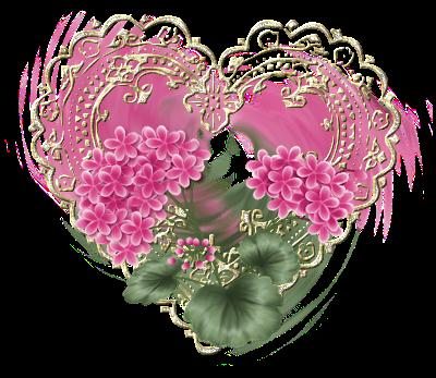 Saint valentin coeurs roses page 4 - Coeur avec des fleurs ...